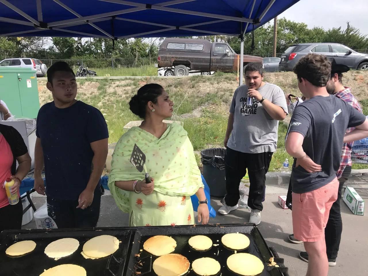 Pancake Breakfast - Pancake Cooking