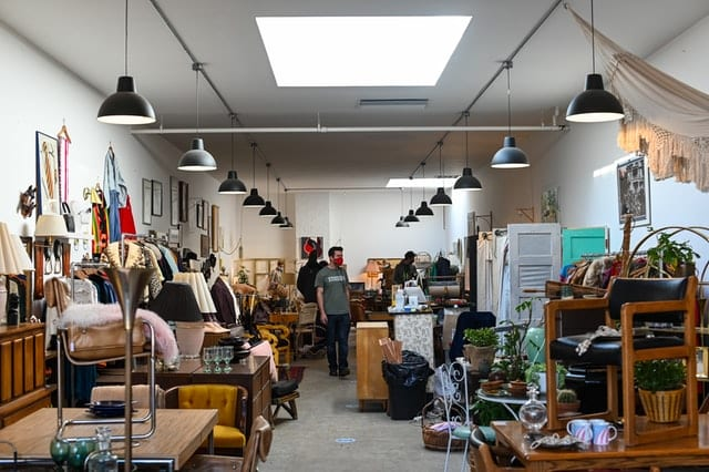 Thrift store shopping to be more sustainable